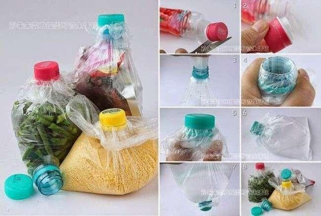 Tupperware con botella de plástico